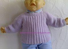 Das Mãos da Teresinha: Casaco de tricô para bebé recém-nascido
