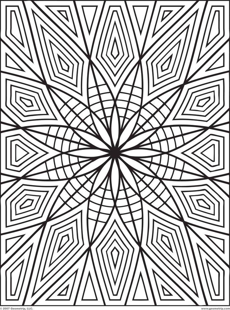 142 adult book coloring geometric