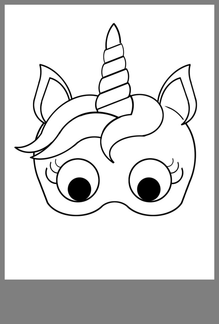 Unforgettable image intended for printable unicorn mask