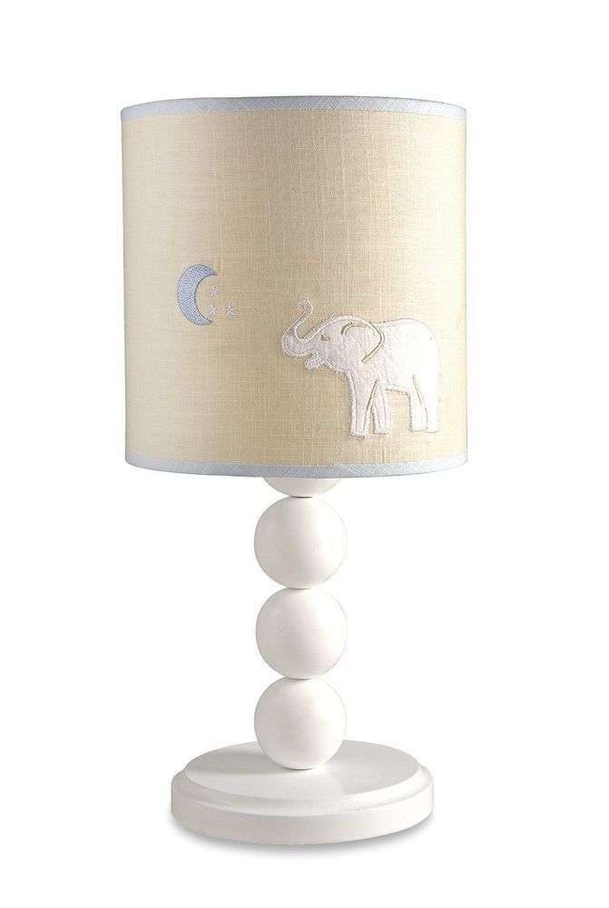 Wendy Bellissimo Walk With Me Elephant Baby Nursery Lamp Blue and White #WendyBellisimo