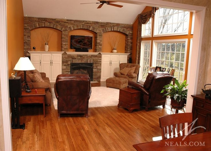 family  rooms with fireplaces | Family Room Fireplace Remodel | Loveland, OH