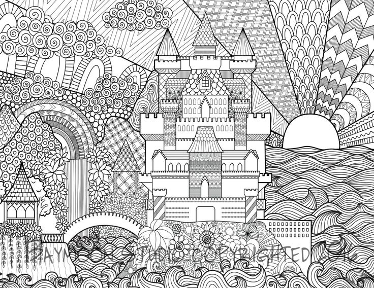 architecture coloring book pages | 362 best Architecture Coloring Pages for Adults images on ...
