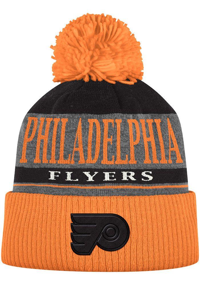 Adidas Philadelphia Flyers Orange Heather Tonal Mens Knit Hat - Image 1 aa3702e015c