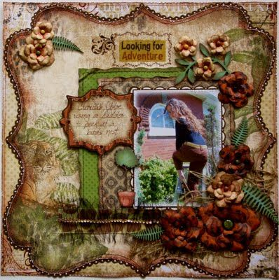Layout made with Bo Bunny Zoology & Timepiece collections ~Gabrielle