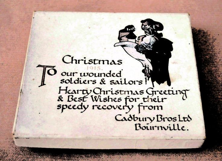 Scatola di cioccolatini donata dalla Cadbury  Bross Ltd (Bourville) nel Natale1915 ai soldati ricoverati negli ospedali.