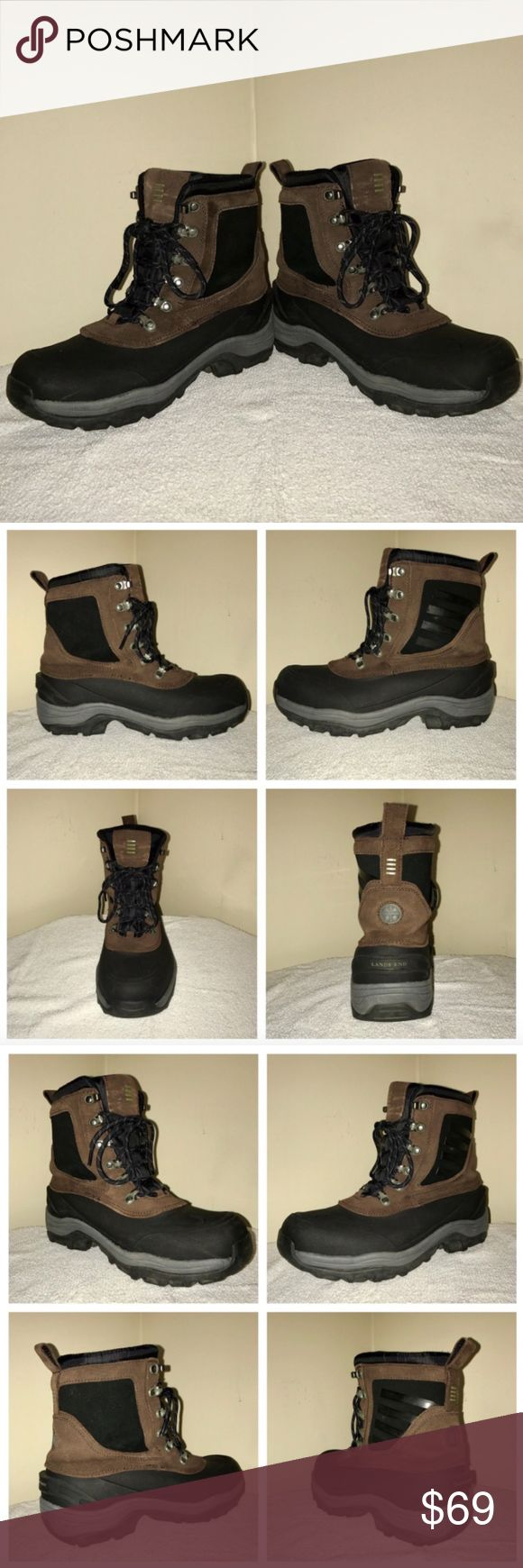 Lands End Women's Waterproof Hiking Boots 9 Narrow ALL OFFERS CONSIDERED!  Description  Size: 9 Narrow Color: Brown Tag Measurements- 9 B (Narrow) Condition: Excellent  Flaws: Shows little wear. Lots of tread left. I do not have the original box. Lands' End Shoes Winter & Rain Boots