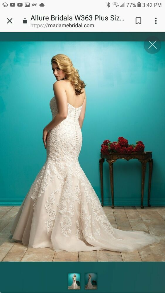Allure Wedding Gown Style W363 Fashion Clothing Shoes