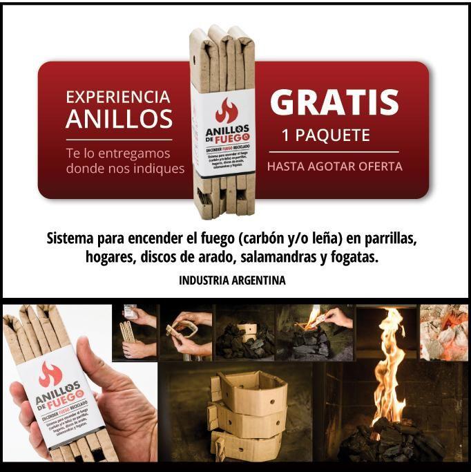EXPERIENCIA ANILLOS ¡¡GRATIS 1 PAQUETE!! http://www.anillosdefuego.com/experiencia-anillos … Encender el fuego en PARRILLAS,HOGARES Y DISCOS.