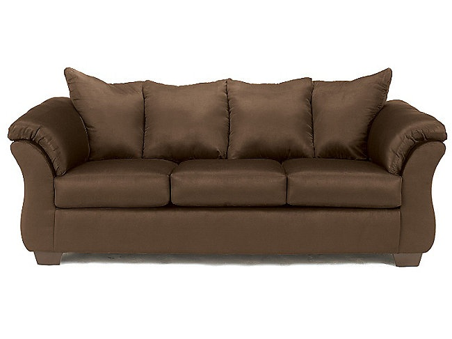 the darcy ii sofa is all about style and comfort generously sized this sofa features padded arms and plush attached pillow backs