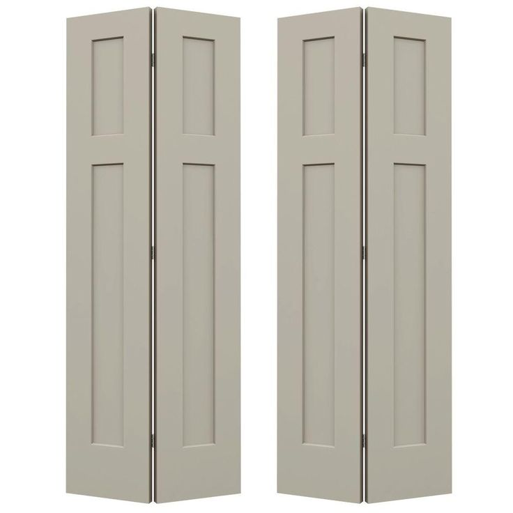 Jeld Wen 36 In X 80 In Craftsman Desert Sand Painted Smooth Molded Composite Mdf Closet Bi Fold Double Door Thdjw160200120 In 2020 Craftsman Interior Doors Bifold Doors Bifold Closet Doors