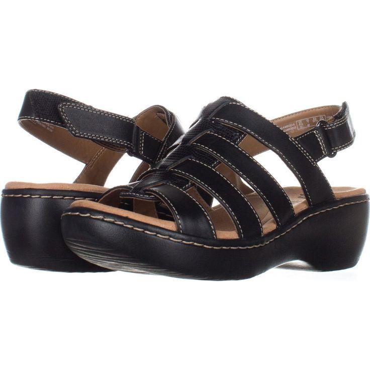 Clarks Delana Maloren Comfort Wedge Sandals 136    #clarks #sandals #clarksforwomen  #shoes #shopping #fashion #retail #style #trend #love #wedge