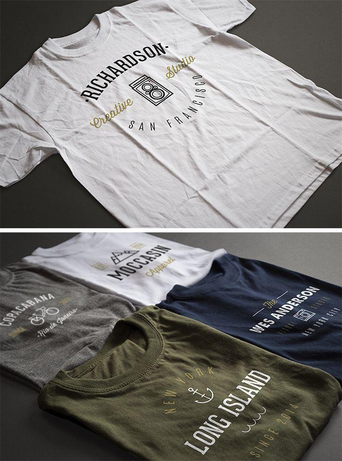 Free 2 Photorealistic T-Shirt Mock-ups (129 MB) | By Antonio Padilla on pixelbuddha.net