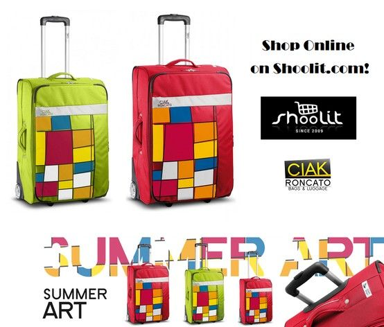 Summer Art Collection 2013 by Roncato Ciak - Valigie Trolley Ultraleggere e Morbidissime! Shop Online ---> http://www.shoolit.com/it/cerca?controller=search=position=desc_query=summer+art_search=
