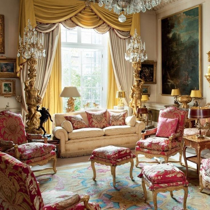 Pin By Divya Dubey On Drawing Living Room: Opulent Townhouse Sitting Room Off Grosvenor Square