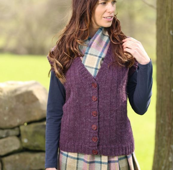 Wendy Ramsdale DK waistcoat FREE PATTERN from Let's Knit