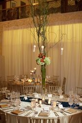 Tall Willow Branch Centerpiece with hanging candles // wedding, romantic, classic  Sweetchic Events, Chicago Wedding Planner, Chicago Wedding, Rookery Wedding