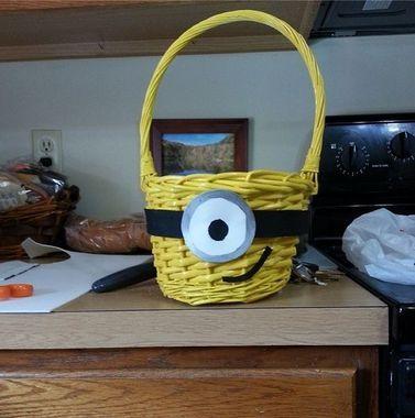 minion eatser | Minion Basket | 8 Easy, Affordable, Homemade Easter Baskets | The Stir