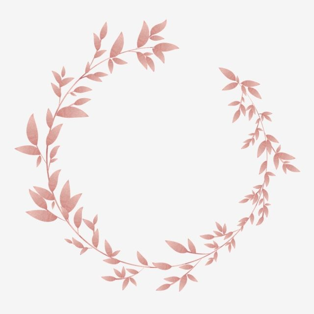 Pink Gold Floral Wreath Border Luxurious Shading Pink Png And Vector With Transparent Background For Free Download Pink Floral Background Floral Background Floral Wreaths Illustration