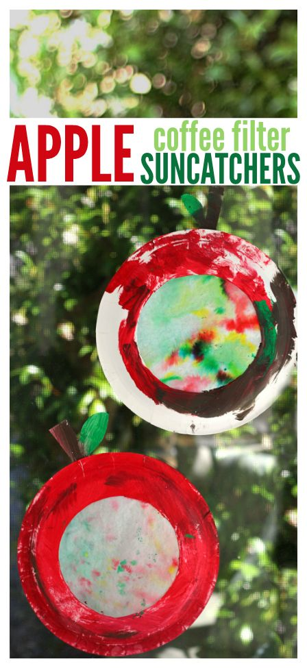 Cute and easy paper plate apple craft for kids.