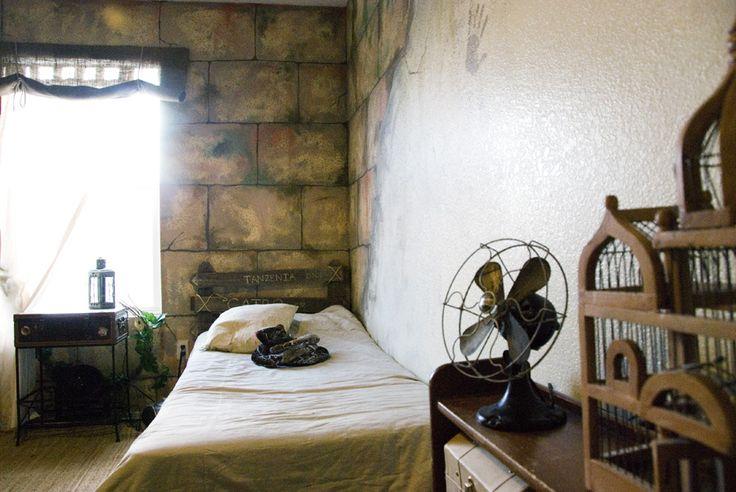 Indiana Jones inspired bedroom