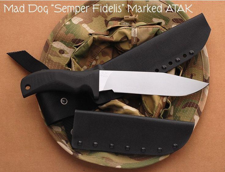 Mad Dog Semper Fi fixed blade knife, ATAK Sheath and Slip Sheath.  NOT Maxpedition.