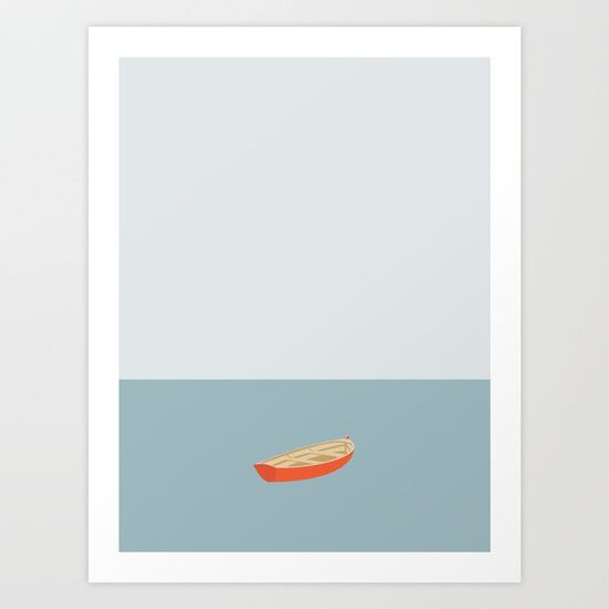 OCEAN SVØMMERE No.01 (Boat)   Illustration Art Work by Swen Swenson
