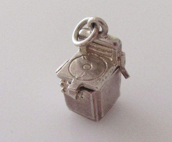 Silver Washing Machine & Bra  Opening Charm by TrueVintageCharms