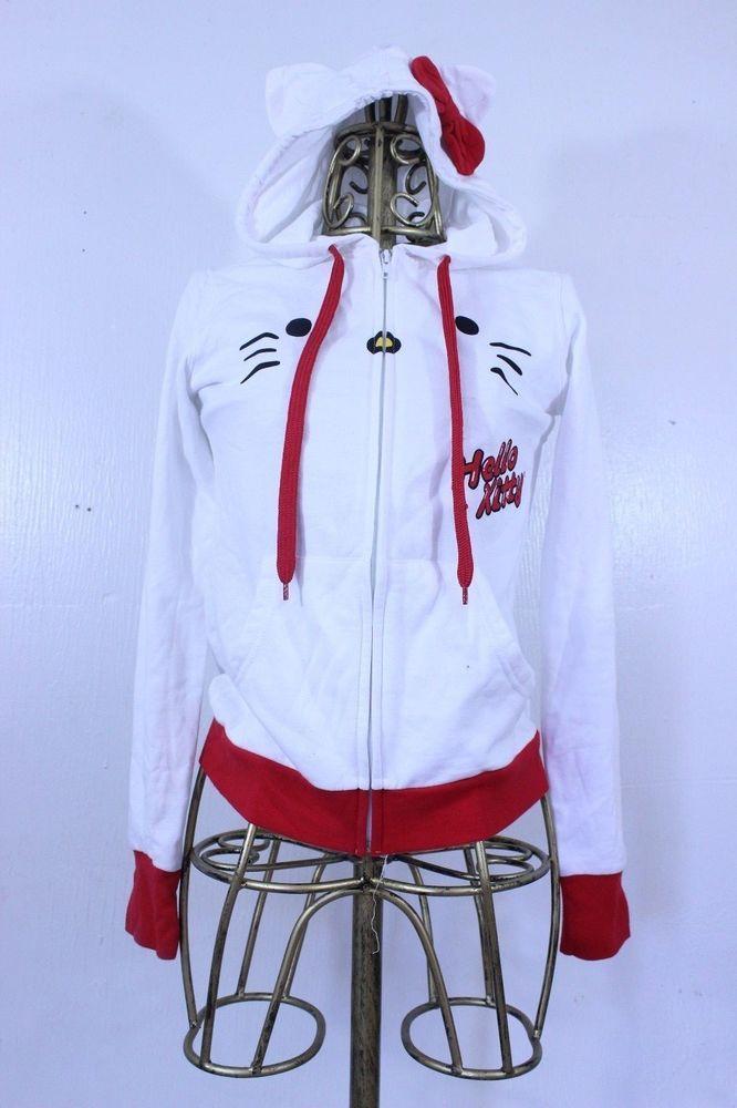 Sanrio Hello Kitty Ears and Bow Hoodie Sweater Size Small #Sanrio #Hoodie