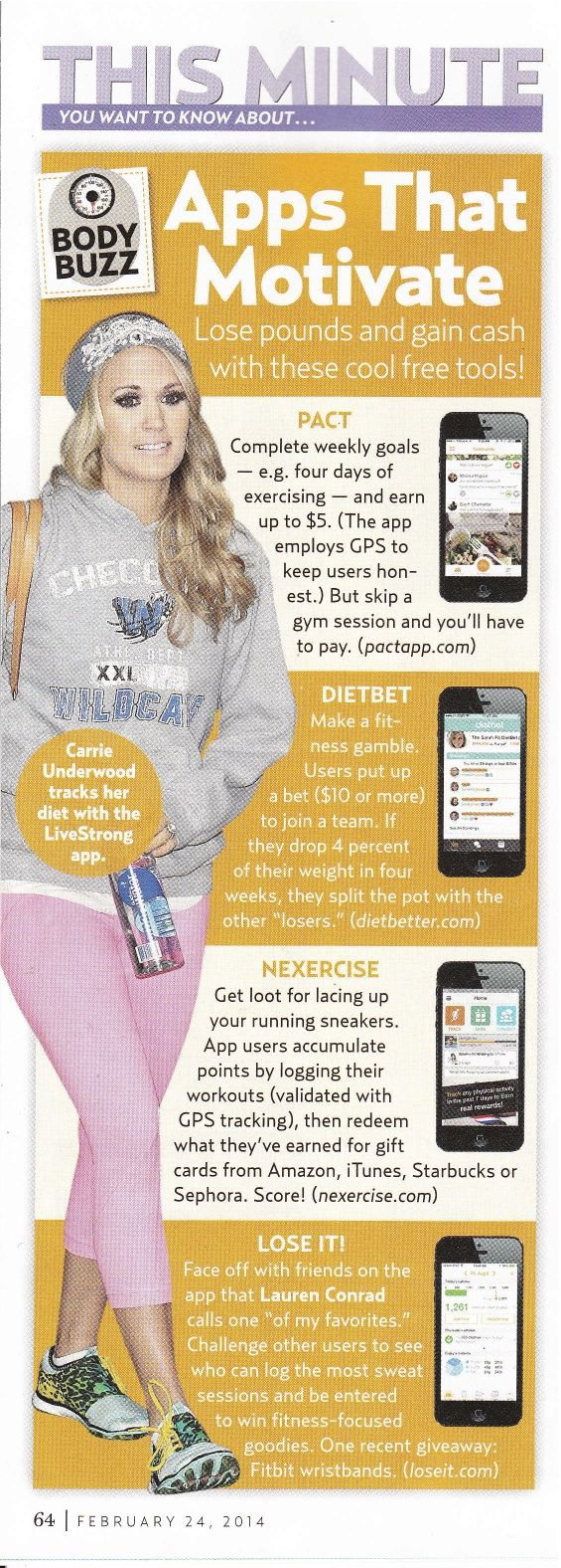 Apps That Motivate: #USWeekly names #Nexercise a top fitness app in this week's edition