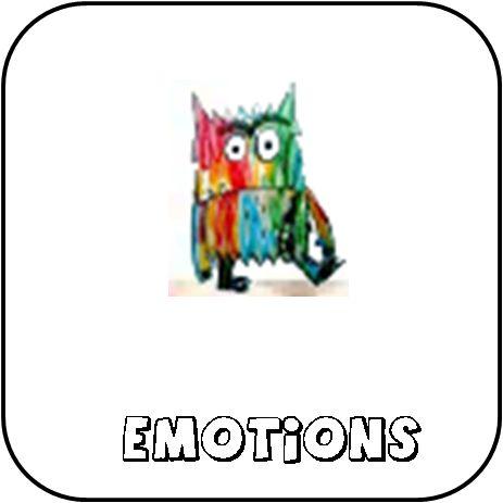 monstre qui rit, monstre qui pleure la couleur des émotions jeu et exploitation loto émotion affichages émotions