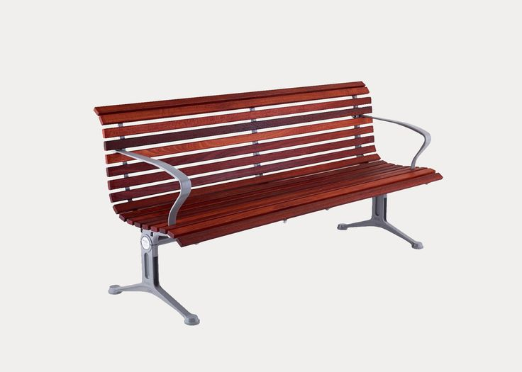 Classic Galleria DDA Seat   Our most classic range features slender battens in a wave profile, made from eco-certified hardwood or aluminium, with a variety of arm and leg designs. Specified with arms, this seat is accessible and complies with DDA requirements. streetfurniture.com