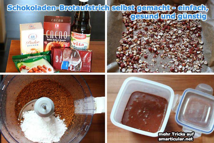 Schokoladen-Brotaufstrich selbst gemacht - einfach, gesund und günstig [Rezept]