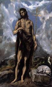 San Juan Bautista. El Greco. 1600. Oleo sobre lienzo (111 x 66 cm). Museo de Bellas Artes, San Francisco, CA, EEUU.