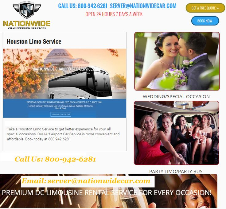 Houston limousine rental support is beast used for , bachelor party, proms and corporate comings and goings. Calling us: 800-942-6281. Visit us:https://www.nationwidecar.com/locations/houston/