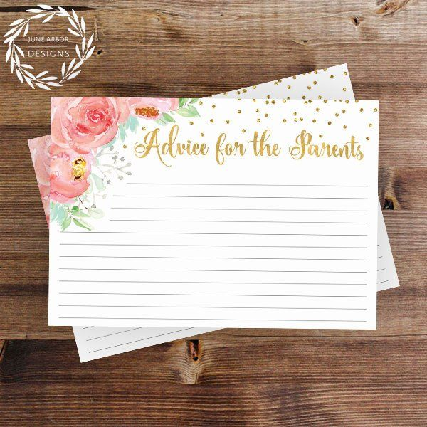 Roses And Gold Baby Girl Shower Advice Cares From June Arbor
