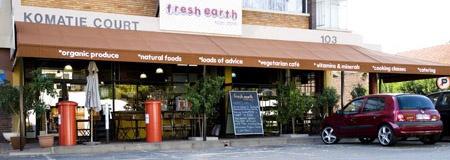 Fresh Earth Food Store and Restaurant   103 Komatie Road, Emmarentia