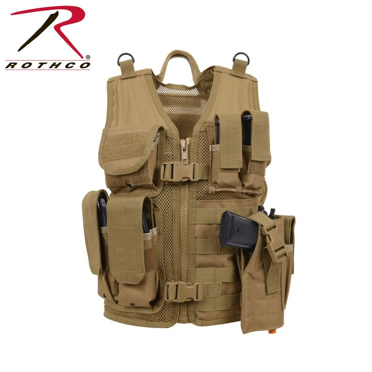 Vests 176957: Kid S Airsoft Vest Cross Draw Tactical Holster Molle Compatible 5293, One Size -> BUY IT NOW ONLY: $49.99 on eBay!