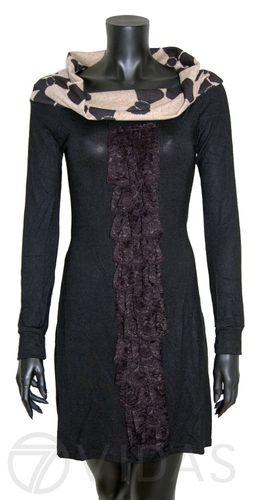 Vestido Liso de Invierno con Cuello Alto http://www.comandopirata.com/es/nueva-coleccion-otono-invierno/wt41--vestido-invierno-41