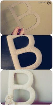 DIY letras para boda