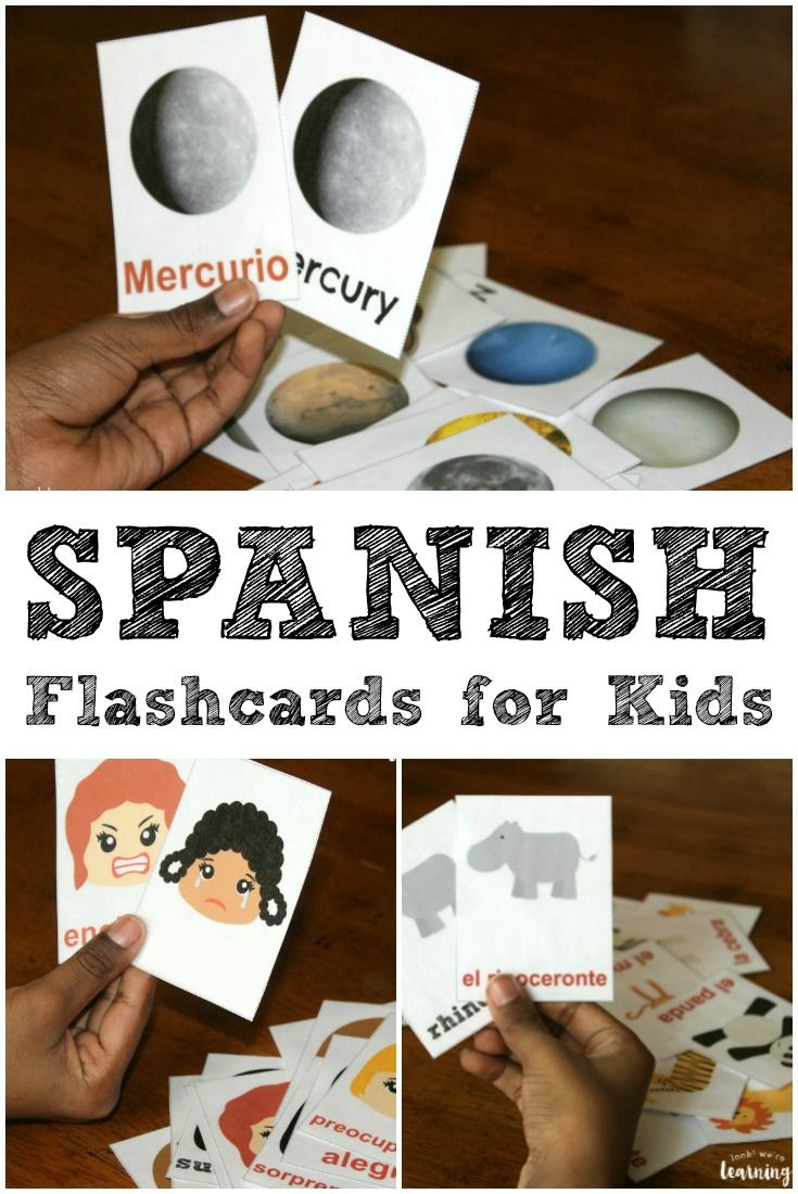 Help your kids learn to speak Spanish with our printable Spanish flashcards and pronunciation guides!