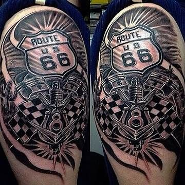 26 best route 66 images on pinterest route 66 biker tattoos and tatoos. Black Bedroom Furniture Sets. Home Design Ideas