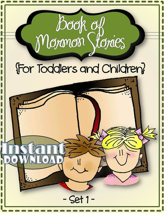 Set 1 - Book of Mormon Stories (For Toddlers) We looooove this one! It has turned scripture study into a fun nightly activity instead of a chore