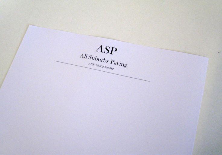 Simple but elegant letterheads.  www.epping.minutemanpress.com