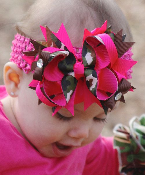 Take a look at the Hot Pink & Camo Bow Clip on #zulily today!