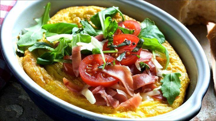 Omelett i ovn med spekeskinke