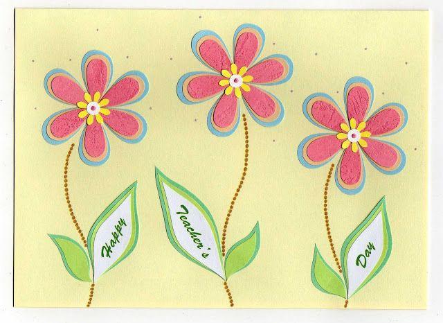 Lin Handmade Greetings Card Teacher S Day Cards Greeting Cards Handmade Flower Cards Teachers Day Greeting Card