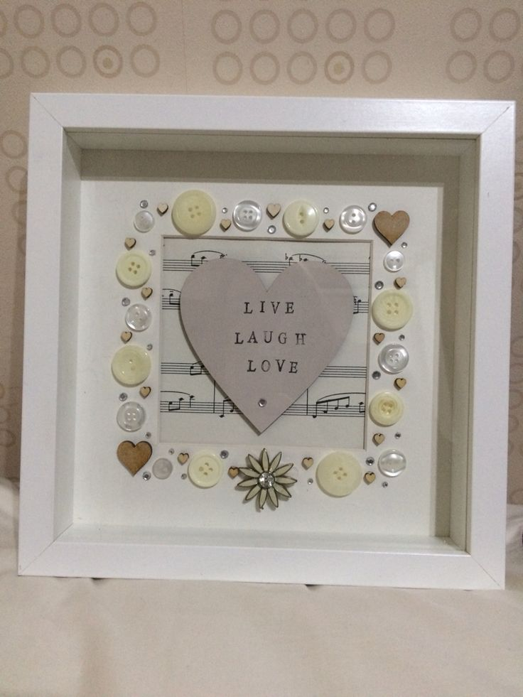 Personalised frames - Live, Laugh, Love