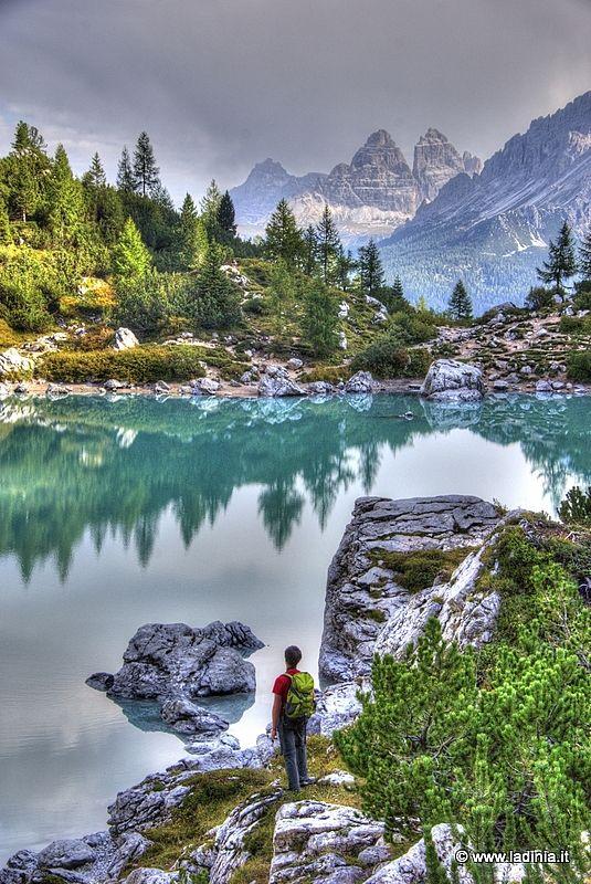Lago del Sorapis -  #Ladinia #Dolomites  Serene but lonesome scenery...