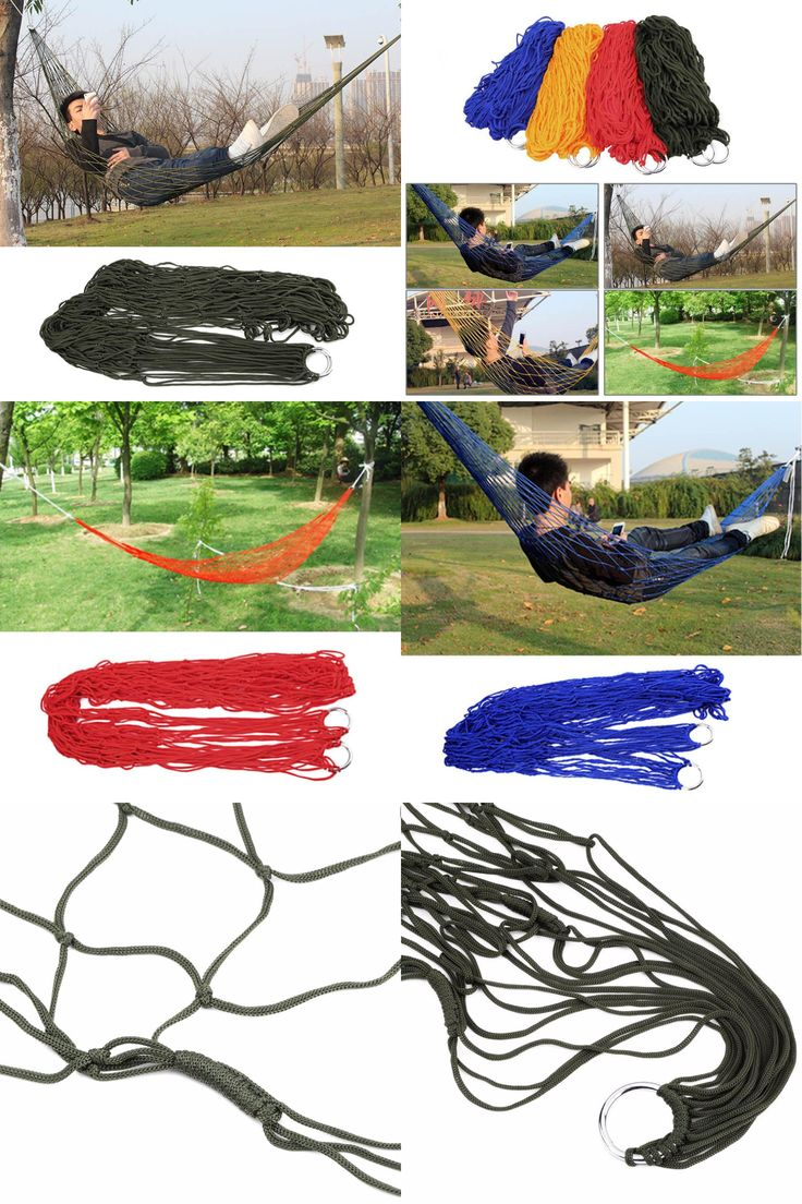 [Visit to Buy] 1Pc sleeping hammock hamaca hamac Portable Garden Outdoor Camping Travel furniture Mesh Hammock swing Sleeping Bed Nylon HangNet #Advertisement