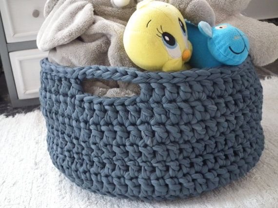 Crochet Storage Baskets Large Storage Baskets Eco by LoopingHome